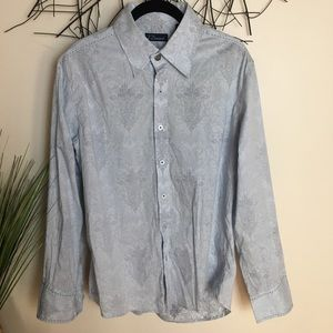 Sexy 7 DIAMONDS button down shirt blue large